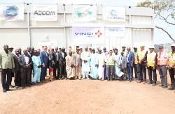 Cérémonie lancement travaux Projet Energie à Soma