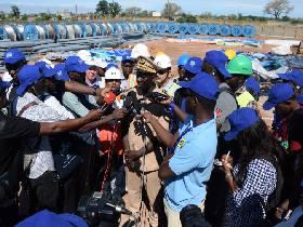 Visite de presse dans les chantiers du Projet Energie de l'OMVG au Sénégal