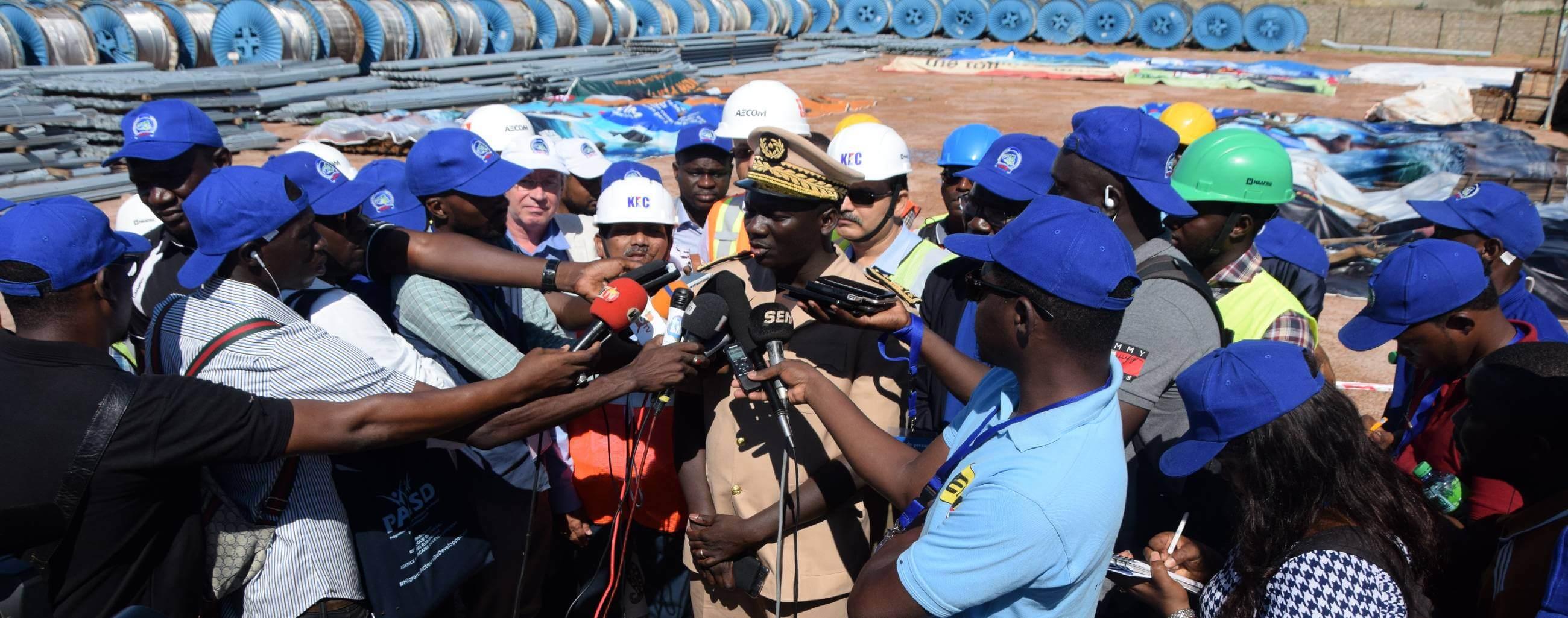 Visite de presse dans les chantiers du Projet Energie de l'OMVG