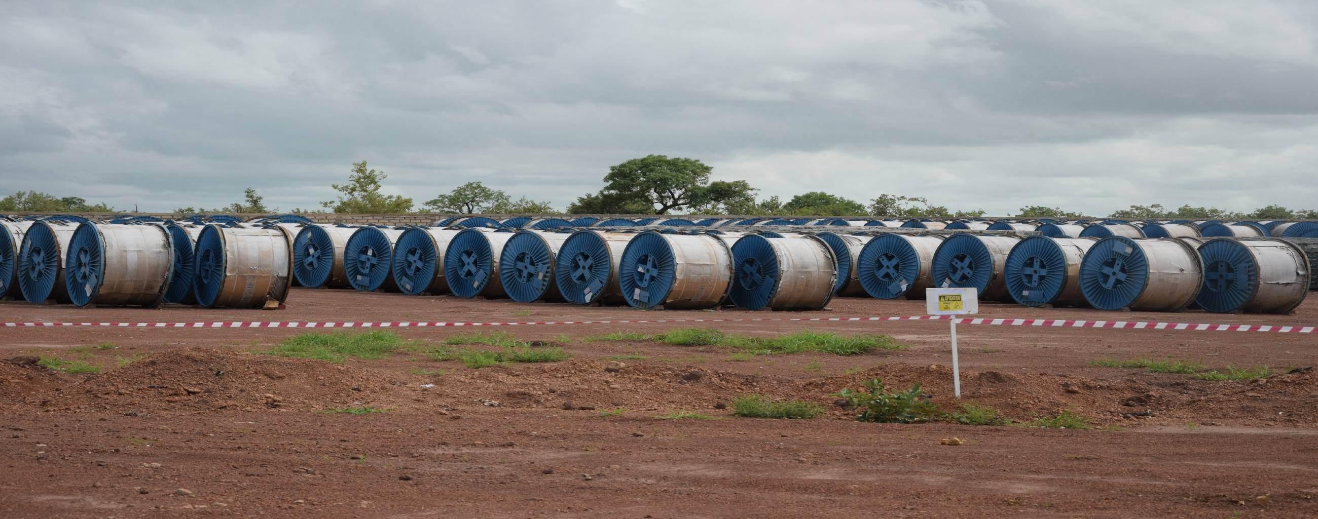 Rouleaux de câble Projet Energie OMVG